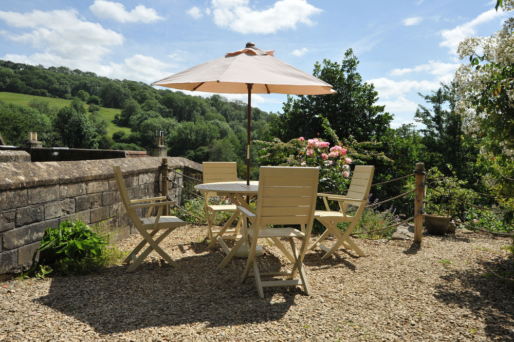Tucking Mill View - Luxury self-catering cottage terrace