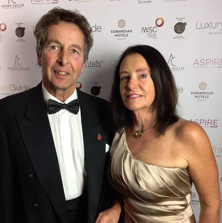 Ann and Michael at the LTG Awards 2016 for Tucking Mill Self-Catering