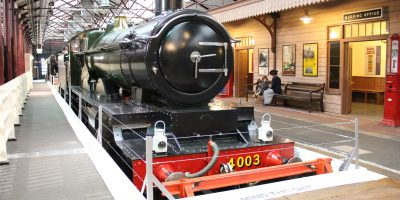 You can travel from Swindon, a local Wiltshire town, by steam