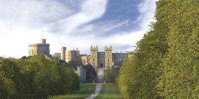 Castello di Windsor in primavera parte della Great West Way